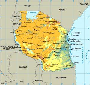 map Tanzaniia