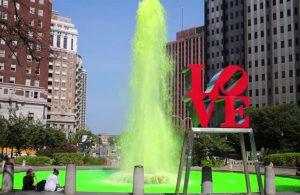 Зеленый фонтан Филадельфия