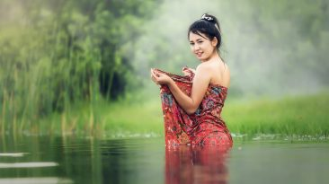 asian-model-in-water