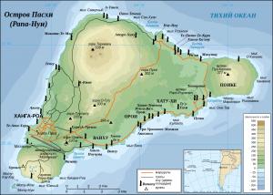 карта острова пасхи