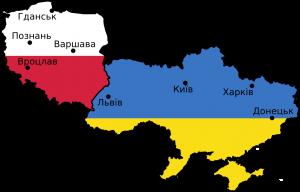 карта украина польша