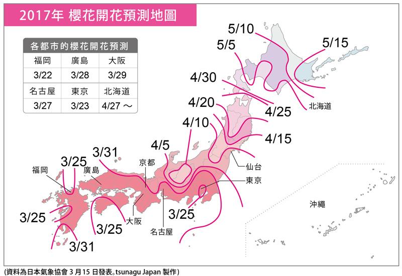 Карта цветения сакуры