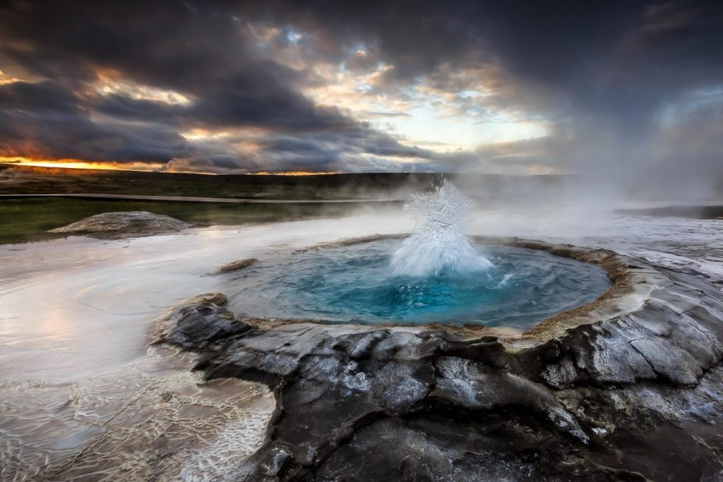 Geysers and volcanoes of Iceland
